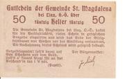 50 Heller (St. Magdalena bei Linz) – revers