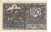 50 Heller (St. Martin im Mühlkreis) -  avers