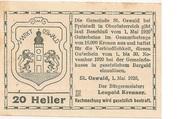 20 Heller (St. Oswald bei Freistadt) -  avers