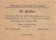 10 Heller (St. Oswald) -  revers