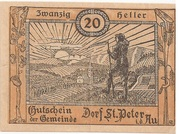 20 Heller (St. Peter in der Au) -  avers
