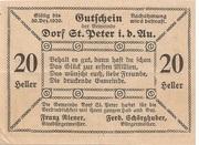 20 Heller (St. Peter in der Au) -  revers