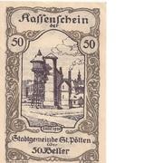 50 Heller (St. Pölten) – avers
