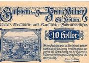 10 Heller (St. Pölten; Firma Franz Pittner) – avers