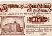 50 Heller (St. Pölten; Firma Franz Pittner) – avers