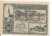 50 Heller (St. Vatentin) – avers