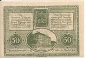 50 Heller (St. Vatentin) – revers