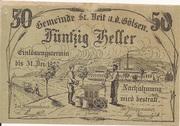 50 Heller (St. Veit an der Gölsen) – avers