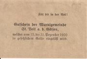 50 Heller (St. Veit an der Gölsen) – revers