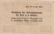 20 Heller (St. Veit an der Gölsen) – revers