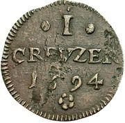 1 Kreuzer - Romanus – revers