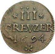 3 Kreuzer - Romanus – revers