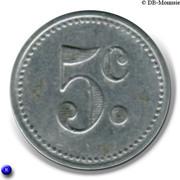 5 Centimes Union du Commerce et de l'Industrie - Sannois [95] – revers