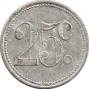 25 Centimes - Unions du commerce et de l'industrie - Sannois [95] – revers