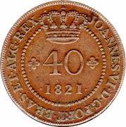 40 Reis - João VI (Bahia mint) – avers