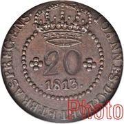 20 Réis - João Prince Regent (Rio de Janeiro mint) – avers