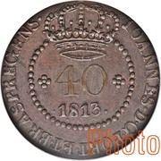 40 Réis - João Prince Regent (Rio de Janeiro mint) – avers