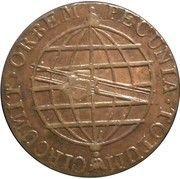"""80 Réis -Pedro V (Contremarque """"petite couronne"""") – revers"""