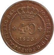 "40 Réis - Pedro V  (Contremarque ""petite couronne"") – avers"