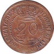 20 Réis - João VI (Bahia mint) – avers
