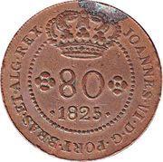 80 Reis - Joao VI (Lisboa mint) – avers