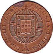 80 Reis - Joao VI (Lisboa mint) – revers
