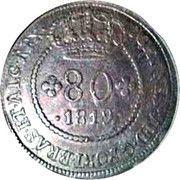 80 Reis - Joao VI (Bahia mint) – avers