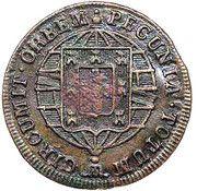 """20 Réis - Pedro V  (Contremarque """"petite couronne"""") – revers"""