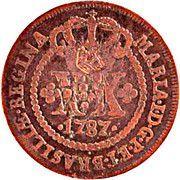 """XX Réis - Pedro V (Contremarque """"petite couronne"""") – avers"""