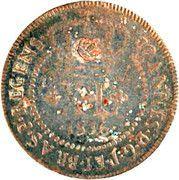 """XL Réis - Pedro V (Contremarque """"petite couronne"""") – avers"""