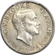 20 cents - Charles V. Brooke Rajah -  avers