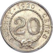 20 cents - Charles V. Brooke Rajah -  revers