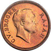 ½ cent - Charles V. Brooke Rajah – avers