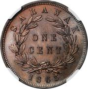 1 cent - James Brooke Rajah – revers