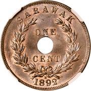 1 cent - Charles J. Brooke Rajah – revers