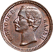 ¼ cent - Charles J. Brooke Rajah – avers