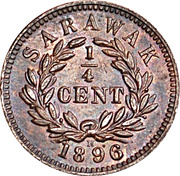 ¼ cent - Charles J. Brooke Rajah – revers