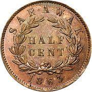½ cent - James Brooke Rajah – revers