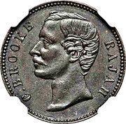 ½ cent - Charles J. Brooke Rajah – avers