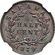 ½ cent - Charles J. Brooke Rajah – revers