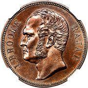 1 cent - James Brooke Rajah – avers