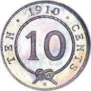 10 cents - Charles J. Brooke Rajah – revers