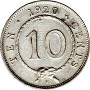 10 cents - Charles V. Brooke Rajah – revers
