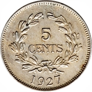 5 cents - Charles V. Brooke Rajah – revers
