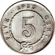5 cents - Charles J. Brooke Rajah – revers