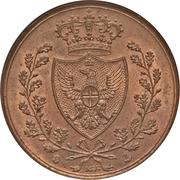 5 centesimi - Charles-Félix – avers