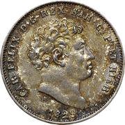 25 centesimi - Charles Félix – avers