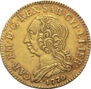 2 ½ doppiette - Carlo Emanuele III – avers