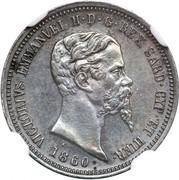 50 centesimi - Victor-Emmanuel II – avers