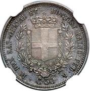 50 centesimi - Victor-Emmanuel II – revers